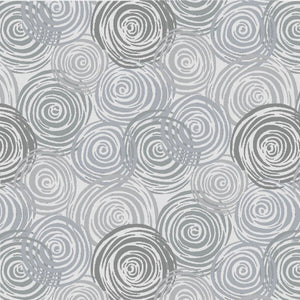 "Gray circles 108"" flannel quilt fabric, Blank Quilting, F8586-090"