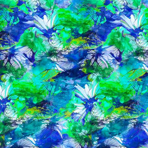 "Blue Texture digital 44"" fabric by P&B Textiles, LIVW3076-B,  Living Wild"