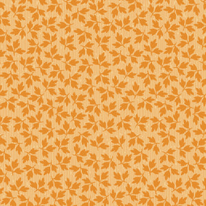 "Orange Floral Leaves 44"" fabric by Maywood studio, A Fruitful Life,  MAS9329-O"