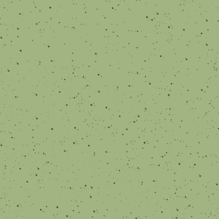 "Green speckled 44"" fabric by Maywood Studio, Love is... MASD6205-G"