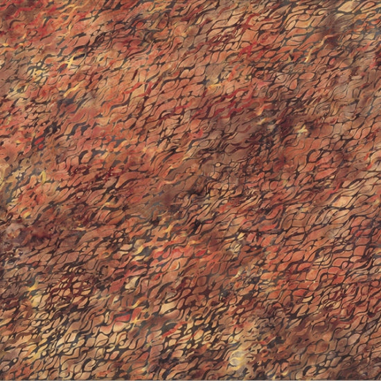 "Brown - Rust 44"" batik, Hoffman, N2849-168-Nutmeg"