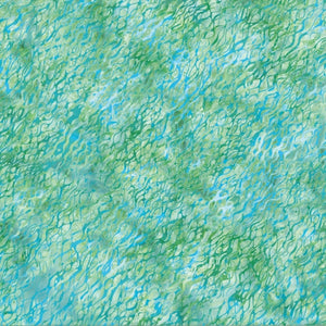 "Blue - Green 44"" batik, Hoffman,  N2849-522-Seagrass"