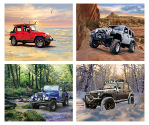 "Riley Blake Jeep In the wild panel (36"" x 44"")  PP7736"