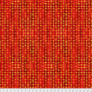 "Orange Weave-Apple 44"" fabric by Free Spirit,  PWSP010.apple, Garden Brighter"