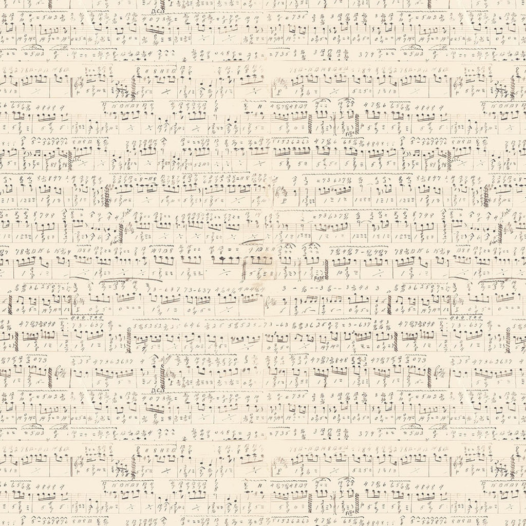"Eclectic 44"" fabric PWTH022 Cream Music Sold by the 1/4 yard"