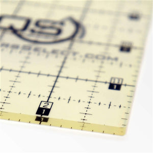 "Quilters Select 'non slip' Ruler measures 4.5"" x 4.5"""