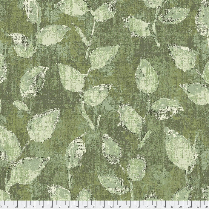 "Green Leaves 108"" fabric by Free Spirit, QBFS001 Underwood Green"