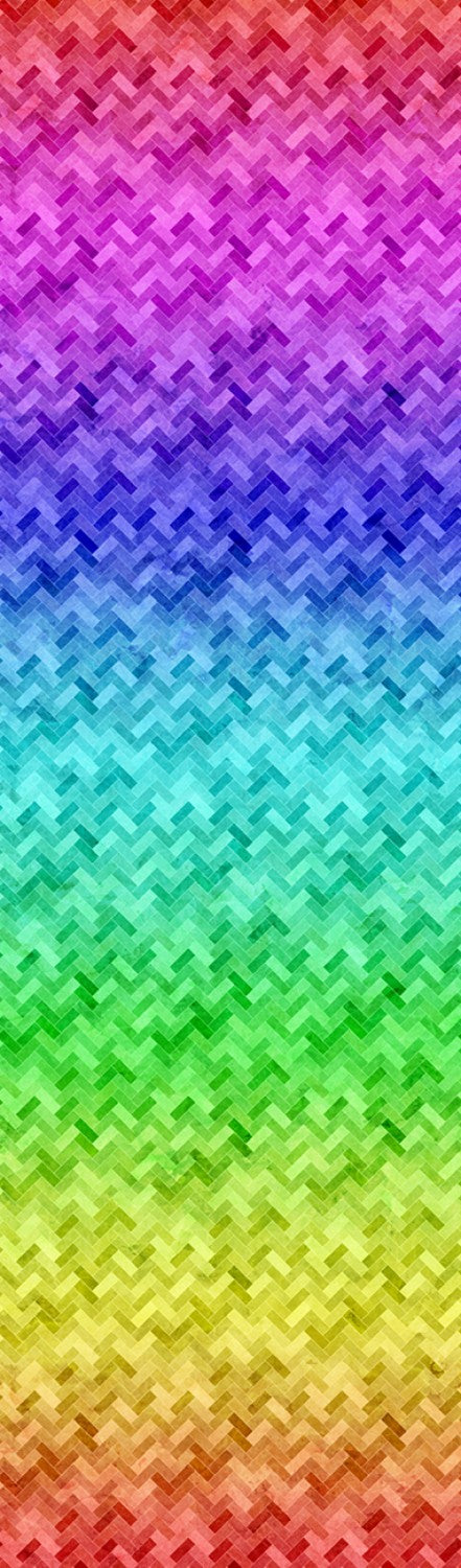 "Rainbow Abstract 44"" fabric by Hoffman,  R4650-181-Rainbow, Backsplash"
