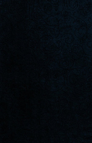 "Dark Blue Scroll 110"" Flannel by Westrade, Willow,  RI9016-14"
