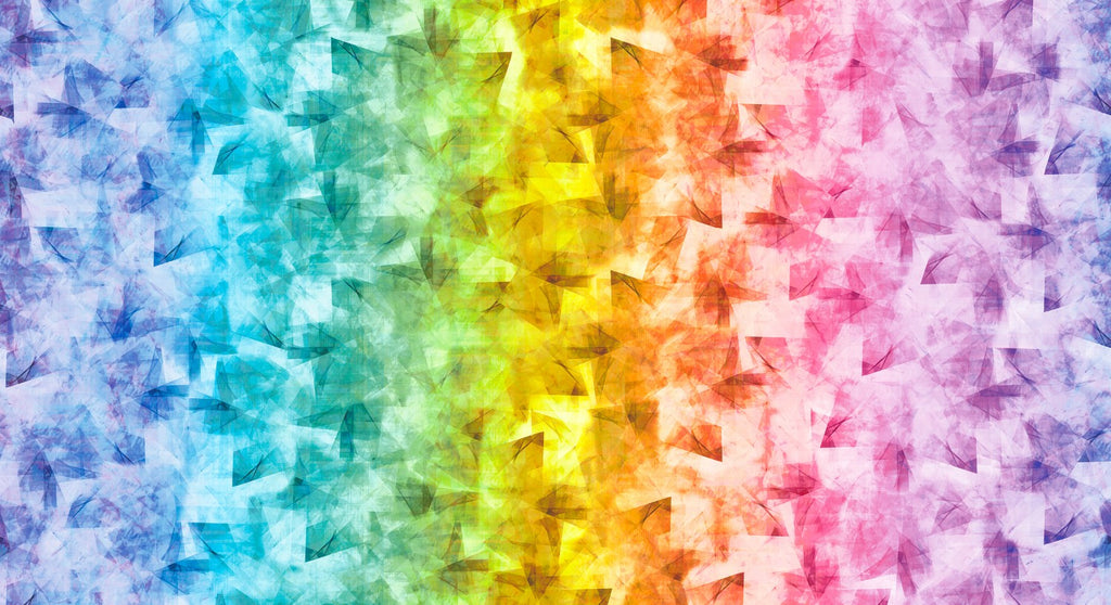 "Rainbow Prism 44"" fabric by RJR, Digiprint, RJ1500-RA1D"