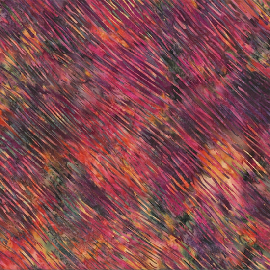 "Cranberry - Rose- Autumn colors- 44"" batik, Hoffman,  S2303-66-autumn"