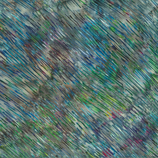 "Blue - purple - green 44"" batik, Hoffman,  S2303-667-Light-Bright"