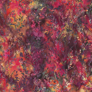 "Petite Stems and leaves 44"" batik by Hoffman, S2317-634-Global-Spice"