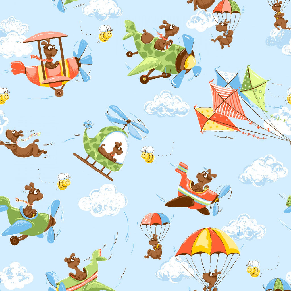 "Zig Flying Ace Allover 44"" fabric by Susybee,  20316-710"