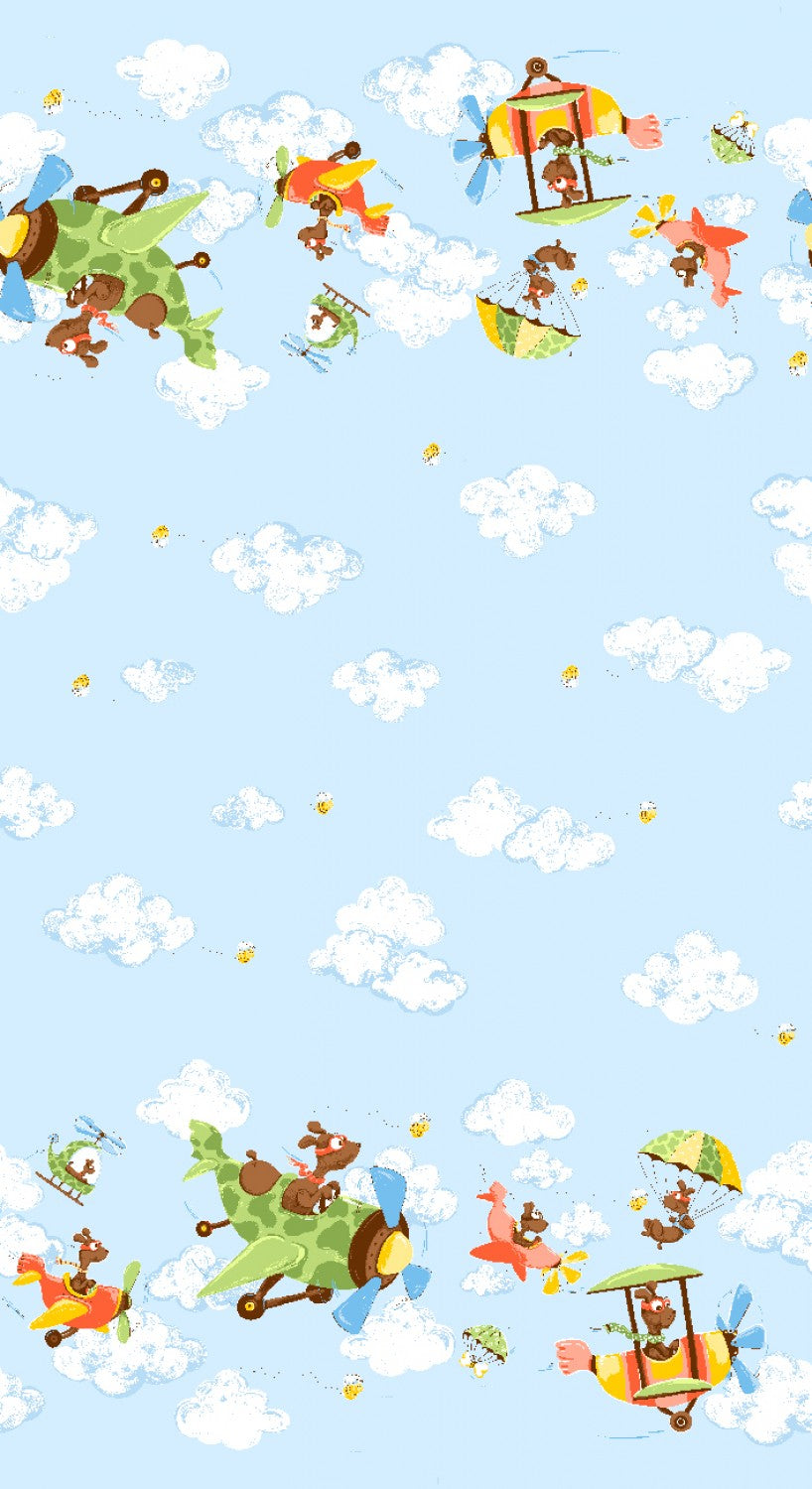 "Zig Flying Ace Double Border 44"" fabric by Susybee, 20317-710"