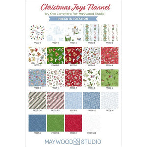 "Children Toys Flannel Layer Cake (10"" squares) by Maywood Studios, SQ-MASCJF, Christmas Joy"