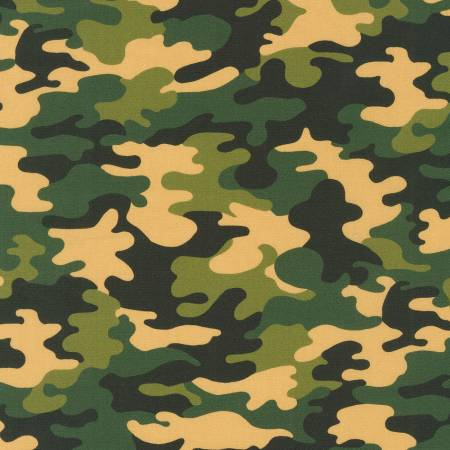 "Green Camo digital 44"" fabric by Robert Kaufman,  SRK-20272-7"