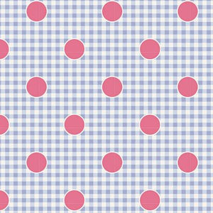 "Gingdot Blue 44"" fabric, Tilda Happy Camper, TIL100224-V11"