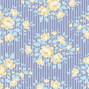 "Marylou Blue 44"" fabric, Tilda Happy Camper, TIL100225-V11"