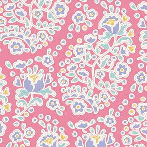 "Charlene Rose 44"" fabric, Tilda Happy camper, TIL100231-V11"