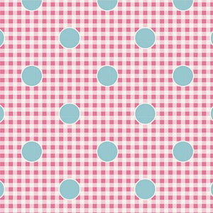 "Gingdot Rose  44"" fabric, Tilda Happy Camper, TIL100232-V11"