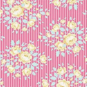 "Marylou Rose  44"" fabric, Tilda Happy camper, TIL100233-V11"