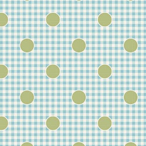 "Gingdot Teal 44"" fabric, Tilda Happy camper, TIL100240-V11"