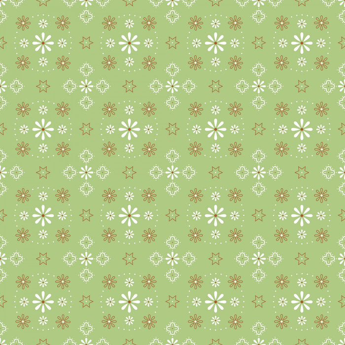 "Bandana Green Flowers 108"" fabric by Riley Blake,  WB6420R-GREE"