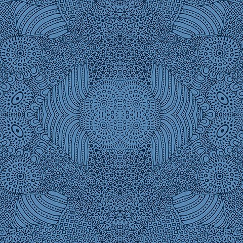 Waterhole Blue by M&S Textiles, WAHBL