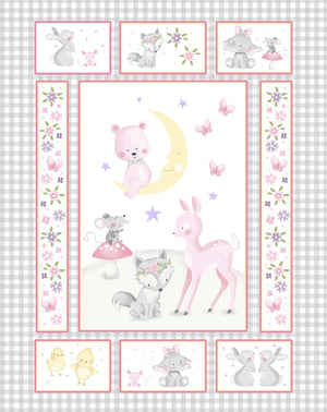 "Baby Animals 35"" Panel by Oasis, 57-3551, Wee-Ones"