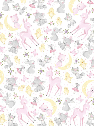 "Baby Animals 44"" fabric by Oasis, 59-3561, Wee-Ones"