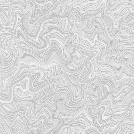 "Marbled Silver 44"" fabric by Robert Kaufman, Holiday Flourish 11, Aptm-17341-186"