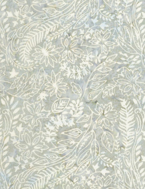 "Gray leaves 106"" batik - wide backing - Timeless Treasures - Xtonga-B4957-Graphite"