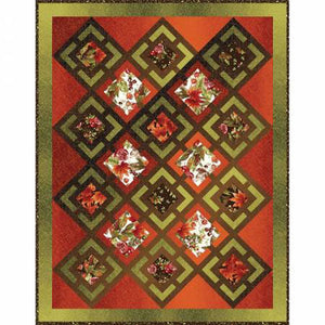 "Bountiful floral quilt  kit by Maywood Studio, measures 46"" x 58"""