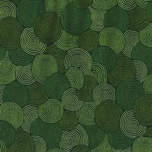 "Blank Quilting 108"" Fabric BTR6835 Green circles"