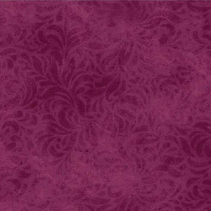 "P&B 110"" Burgundy Belw Floral 00460 RV, dark red and burgundy"
