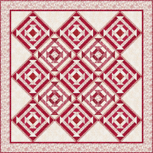 "Red and Creme Churn it Up Quilt Kit, 52"" x 52"", The Little Things by Robin Kingsley"