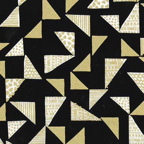 "Geometric Triangles 44"" fabric by Michael Miller, Just right, CM7380-BLIN-D"