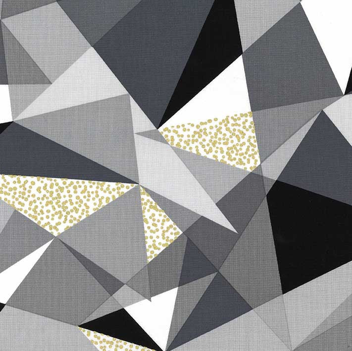 "Modern geometric Triangles 44"" fabric by Michael Miller, Fractured, CM8189-FOGX-D"