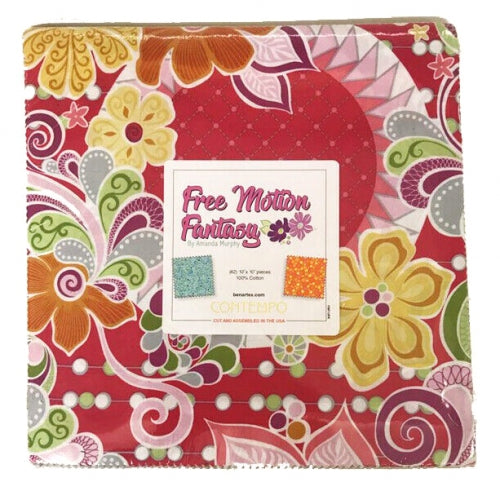 "Free Motion Fantasy Layer Cake by Contempo, 42 - 10"" squares"