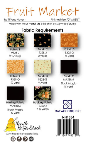"Fruit Market Quilt Kit, Maywood Studio Fabrics, Measures 70"" x 89"""