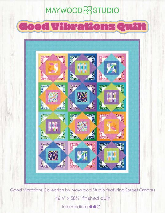 "Good Vibrations Quilt Kit 47""x58"""