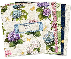 "Hydrangea Dreams Layer Cake / 10 Karat (10"" squares) by Wilmington Prints"