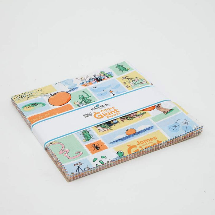 "James and the Giant Peach Layer Cake (10"" squares, 42 pcs) by Riley Blake, 10-7740-42"