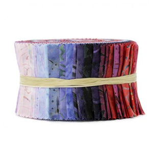 Best of Malam Batiks - Berry Basket Spindle Strips Batik Jelly Roll, RJR Fabrics, Jbbmp-2.5s-BB