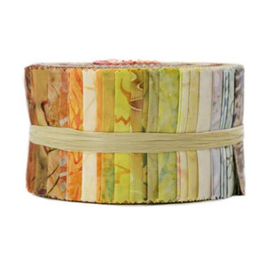 Best of Malam Batiks - Sunrise Spindle Strips, Jelly Roll by RJR Fabrics, Jbbmp-2.5S-S