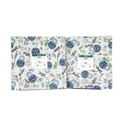 "Blue and Green Winter Dreams , Metallic, by RJR Fabrics, JM100P-10X10-B Layer Cake (10"" squares)"