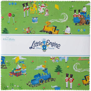 "The Little Engine That Could Layer Cake (10"" squares) by Riley Blake, 10-9990-42"