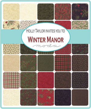 "Winter Manor Quilt Kit, 70"" x 80"", by Holly Taylor for Moda Fabrics, KIT6770"