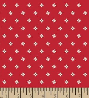 "Red small wonders 108"" fabric by Mary Fons, Springs Creative, 56991-d65"